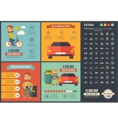 Transportation flat design Infographic Template vector image