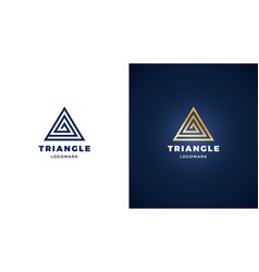 triangle logotype template positive and negative vector image