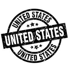 united states black round grunge stamp vector image