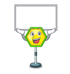 Up board character traffic sign regulatory and vector
