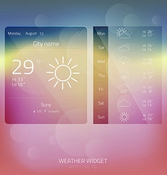 Weather widget 3 vector
