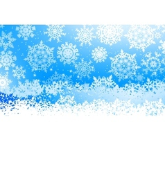 Winter with many falling snowflakes EPS 8 vector