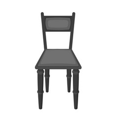 wooden chair icon in monochrome style isolated on vector image vector image