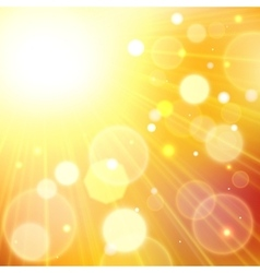 Yellow summer sun light burst vector image vector image