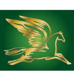 antique flying horse Pegasus vector image vector image