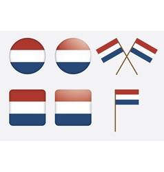 badges with flag of the Netherlands vector image
