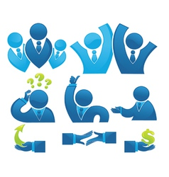 business office team and development vector image vector image