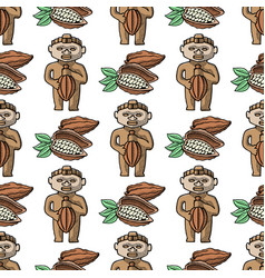 cocoa hand drawn sketch seamless pattern vector image