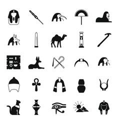 egypt icons set vector image