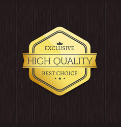 Exclusive high quality best choice golden label vector