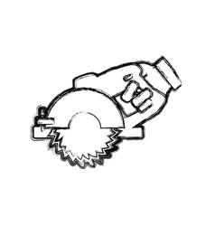 hand circular saw carpentry tool vector image vector image