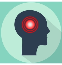 Headache Pain in shape of human head vector image