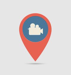 map pin cinema vector image