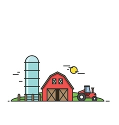 Rural landscape Agriculture and Farming vector image vector image
