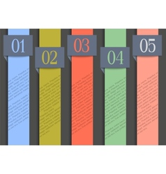 Paper numbered banners in retro colors vector image
