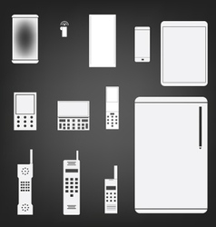 phone set simple icon vector image vector image