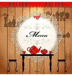 Retro cafe menu vector image
