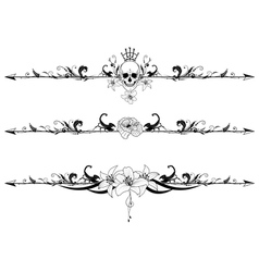 set of gothic borders vector image vector image