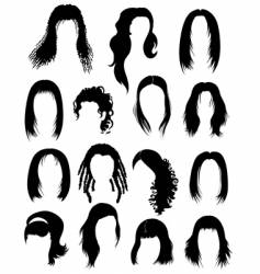 set of hair styling vector image vector image