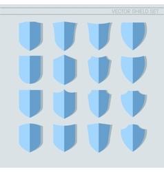Shield Set flat icons vector image vector image