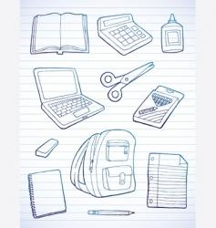 back to school doodles vector image vector image