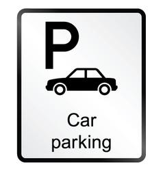 Car Parking Information Sign vector image