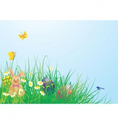 Easter grass vector image