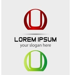 Letter u logo icon design template elements vector image vector image