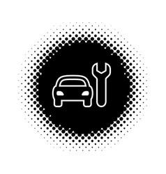 Silhouette icon of car repair service vector