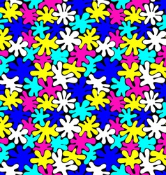 Colored bright spots seamless pattern vector