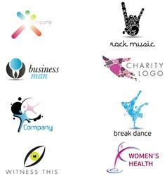 Creative Corporate Identity Elements vector image