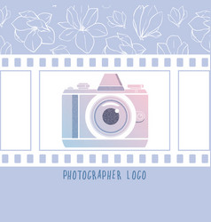 design element for photographer logotype vector image vector image