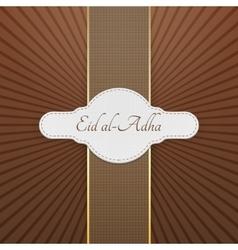 Eid al-adha realistic greeting badge vector