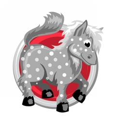 Horse orient horoscope sign isolated in circle vector