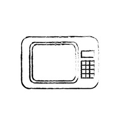 microwave appliance electronic device sketch vector image