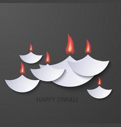 modern happy diwali background vector image