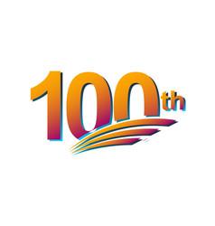 100 th anniversary elegant celebration template vector