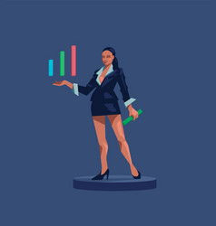A business woman vector