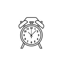 alarm clock line icon clock icon premium quality vector image