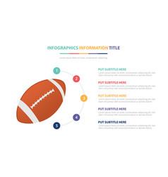 American football ball sport infographic template vector