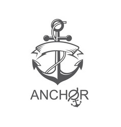 Anchor symbol with ribbon vector