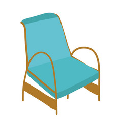 armchair furniture comfort isolated icon vector image