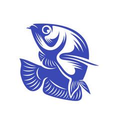 Arowana fish logo template creative fish vector