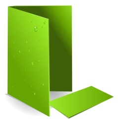 Background green visit card and document case vector