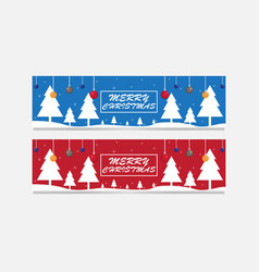 banner christmas sale vector image