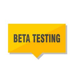 Beta testing price tag vector