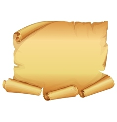 Big golden scroll of parchment vector