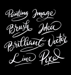 brilliant idea hand written typography vector image