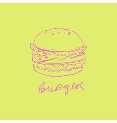 Burger Handdrawn vector