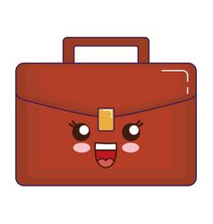 Business briefcase icon vector